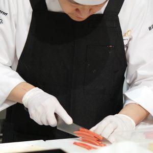 Bocuse d'Or 2017 Japon taillage légumes couteau TAKAMURA